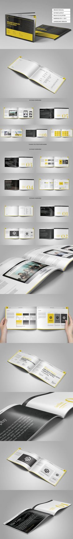 Brand Manual Template InDesign INDD #design Download   - how to manual template