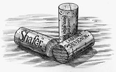 Wine Corks- These, sketches were all created for Shafer Winery, in California. Michael Kavish was the Art Director. Wine Tattoo, Bottle Tattoo, Lighted Wine Bottles, Bottle Lights, Fountain Pen Drawing, One Glass Of Wine, Food Tattoos, Wine Meme, Bottle Drawing