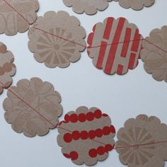 Letterpress Christmas Garland / Bunting. £12,00, via Etsy.