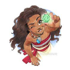 chihirohowe: Moana looking at the heart of Te Fiti :) Disney And Dreamworks, Disney Pixar, Walt Disney, Disney Characters, Moana Disney, Cute Disney, Disney Dream, Disney Magic, Moana Drawing