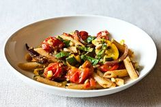 Think of this recipe as summer in a bowl. The sweet corn, bursting cherry tomatoes, and tender zucchini lighten up a savory, satisfying bowl of pasta. Proof that meatless dishes can be quick, easy, and a joy to eat!