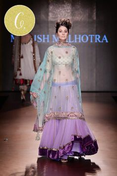 orchid mint lengha indian wedding