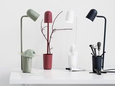 The unassuming Northern Lighting Buddy desk lamp is a multi-functional design described by designer Mads Sætter-Lassen as 'the little helper everyone needs'.