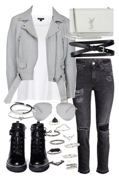 """""""Untitled #19738"""" by florencia95 ❤ liked on Polyvore featuring Topshop, Acne Studios, Banana Republic, Yves Saint Laurent, MICHAEL Michael Kors, Victoria Beckham, Michael Kors and Monica Vinader"""