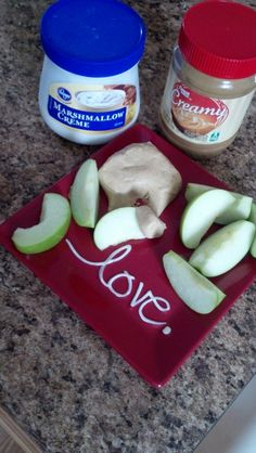 EASIEST peanut butter fudge or apple dip. 1:1 ratio of marshmellow cream to peanut butter. Mix together and it becomes a creamy fudge or a smooth dip. If you add a tsp vanilla or almond extract it gives it some various flavors too!