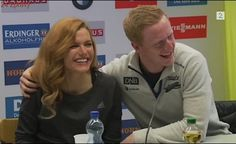 Johannes Thingnes Bø was asked a question about Valentine's Day and answered with a joke, while another red-head Gabriela Koukalova supported him and both of them made everyone laughing Gabriela Koukalova måtte minne Johannes Thingnes Bø på at hun er. Flirting, Redheads, Jokes, Sports, Biathlon, Red Heads, Hs Sports, Husky Jokes, Ginger Hair