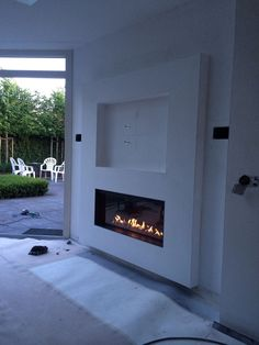 Wonderful Snap Shots Electric Fireplace corner Concepts – Rebel Without Applause Fireplace Tv Wall, Build A Fireplace, Fireplace Remodel, Modern Fireplace, Fireplace Design, Living Room With Fireplace, New Living Room, Living Room Decor, Tv Wall Decor