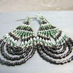 Bohemian Earrings Boho Seed Bead Jewelry Glass by IrisElmJewelry