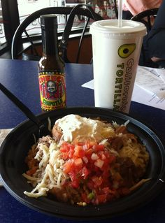 The Hot Sauce of the Day is The Cheech Smokin' Chipotle Sauce, pairs well with Carnitas Verde Burritos, Enchilada Bowls & Veggie Burritos. MMm Mmm! Take a picture of yourself with a bottle of Cheech & e-mail to spunky@caltort.com for a chance to win the ENTIRE Wall of Flame!