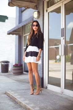 Style inspiration // Skirts / Striped skirt