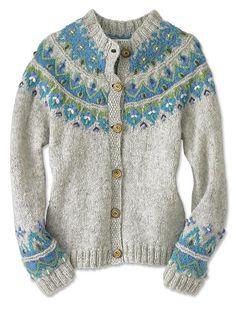 Hand Knit Sweater for Women / Icelandic Fair Isle HandKnit Sweater -- Orvis
