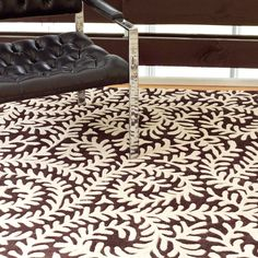 Dash & Albert Vine Chocolate Tufted Wool Rug 5 x 8 $714