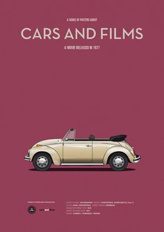 A series of posters about cars and films. It's a project which shows my personal view of some of the most famous iconic cars in the history of cinema and the tv series.