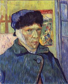 Vincent Willem van Gogh.  Selbstporträt mit abgeschnittenem Ohr. 1889, Öl auf Leinwand. London, Courtauld Institute Galleries. Niederlande und Frankreich. Neo-Impressionismus.  KO 01591