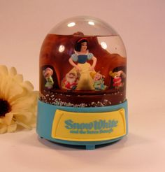 Vintage 1960's Disney Snow White and the Seven Dwarfs  Snow Globe  Music Box…