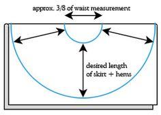 Circle Skirt cut-out Pattern