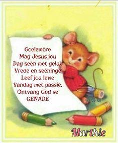 Lekker Dag, Wees, Goeie More, Cartoon Pics, Afrikaans, Winnie The Pooh, Good Morning, Disney Characters, Fictional Characters