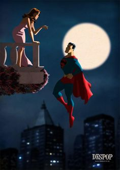 Superman and Lois / Romeo and Juliet style by DESPOP on DeviantArt Mundo Superman, Batman Y Superman, Superman And Lois Lane, Adventures Of Superman, Superman Family, Superman Images, Superman Stuff, Clark Kent, Lois E Clark