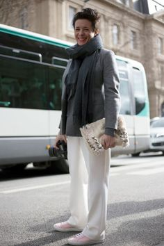 Street Style: Paris Fashion Week Fall/Winter 2014   Vanity Fair - Garance Dore outside of Dries Van Noten