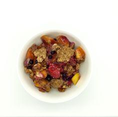 Fruit Cobbler for breakfast! (Paleo)