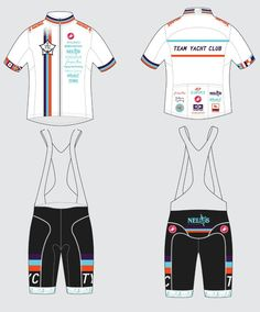 Team Yacht Club cycling jersey and bib tights