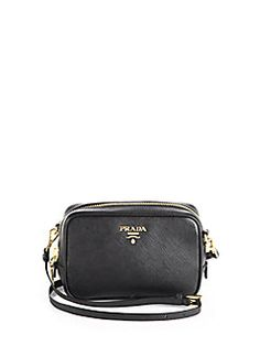 prada faux fur leather crossbody bag