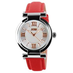 SKMEI 9075 Japanese-quartz Pointer Display 30M Waterproof Multi-function Sports Leather Wonen Watch. 100% New high quality. Original Japan movement, high abrasion resistant glass, A-class material. Battery: 3V high-capacity alkaline manganese Japanese battery;. 3TM water resistant.