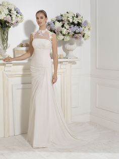 """Ines"" #WeddingDress by Novia D'Art, 2014 Collections. www.noviadart.com"