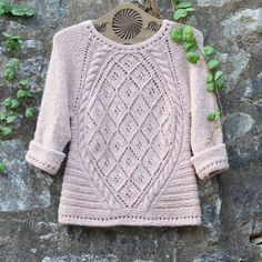 "This is @valentina_9020 's version of the ""Irish Dove"" jumper. Isn't is just gorgeous? Would you like to make it too? You can find the #freepattern by clicking the link in our profile ❤  #dropsdesign #dropsfan #irishdove"