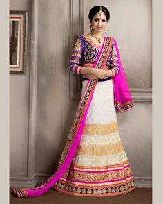 Off   White Gracious Embroidered Net Buy Lehenga Choli Online       Fabric:   Net       Work:   Embroidered       Type:   Buy Lehenga Choli   Online       Color:   Off White                 Lehanga   Fabric   Net       Choli Fabric