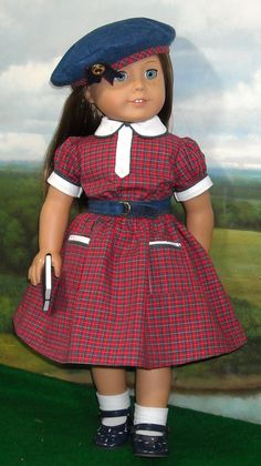 Tartan Plaid  Dress for 18 inch dolls like by SugarloafDollClothes