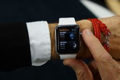 Wearing Apple Watch with White Sports Band