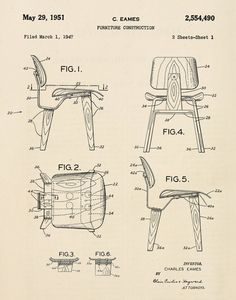 Eames tilt back chair patent poster modern furniture office art eames tilt back chair patent poster modern furniture office art retro furniture pp0159 eames chairs mid century and furniture fittings malvernweather Gallery