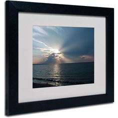 Trademark Fine Art Waiting for Sunset by Kurt Shaffer, Black Frame, Size: 16 x 20, Multicolor