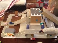 Card board parking garage? I AM a mini metropolis. Creation by Carl (aged 5) with a little help from mum
