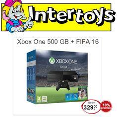 Nu bij Intertoys:Xbox One 500GB + FIFA 16 korting 18% Wil jij ook de nieuwe Fifa spelen, maar wachtte je op een mooie aanbieding? Grijp dan nu je kans! Maarliefst 18% korting bij aanschaf v... #Intertoys #FIFA16 #Xbox