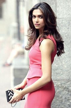 Deepika Padukone...perfect stylist! Pink skirt and top..so chic and classy!