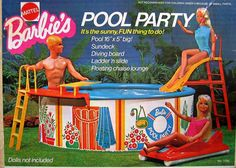 Barbie POOL PARTY Playset w Pool, Sundeck, Diving Board & MORE! Mattel Hawthorne) You can find more details by visiting the image link. (This is an affiliate link) Barbie Party, Barbie World, Mattel Barbie, Barbie And Ken, Barbie Camper, Barbie Birthday, Vintage Barbie, Vintage Toys, Vintage Stuff