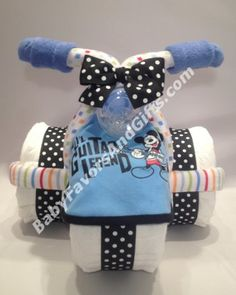 Mickey Mouse Tricycle Diaper Cake - 9990520 - Baby Boy - Diaper Cakes - by