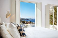 A room with a view at Bohème hotel in Mykonos. 101 Most Astoundingly Beautiful Hotel Rooms