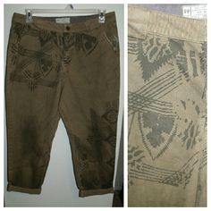 Free People Pants Cropped pants with international distressed look & print  - NWOT Free People Pants