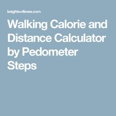 Walking Calorie and Distance Calculator by Pedometer Steps