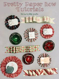 The Crafty Blog Stalker: Pretty Paper Bow Tutorials
