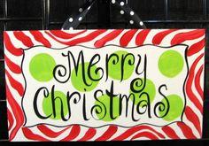Christmas door sign