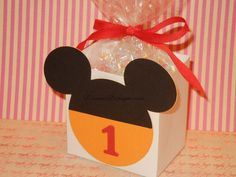 Mickey Mouse Favor bags Red Yellow and Black by lisamarDesigns, $16.80