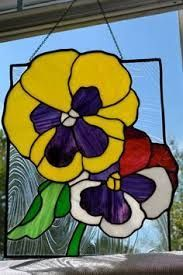 Image result for stained glass pansies