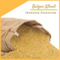 Bulgur wheat is significantly higher in fiber than many other common cereals. Dietary fiber helps to stimulate digestive processes in the body and prevent certain conditions, such as constipation, bloating, cramping and indigestion. It also improves the nutrient uptake efficiency in your gut, and improve your cholesterol balance by eliminating excess omega-6 fatty acids. #USimplySeason #spices #BulgurWheat Source: Organic Facts