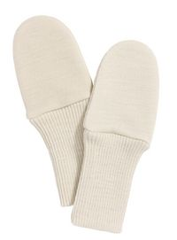 Organic merino wool mittens without thumb  26 chf