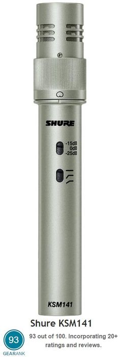 Shure KSM141. This is one of the top rated mics that are used to record acoustic guitar. For more information see https://www.gearank.com/guides/acoustic-guitar-microphone