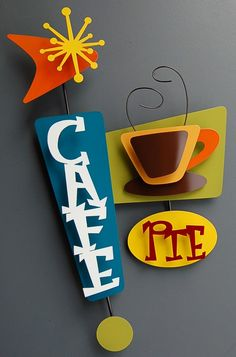 Cool cafe retro sign